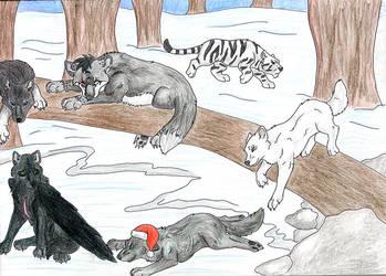Wolf Mountain Festivities by wolfysilver