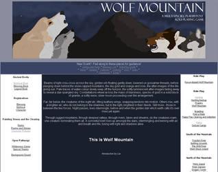 Webdesign - new WM by wolfysilver