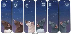 Rat Bookmarks Moonlight Themed