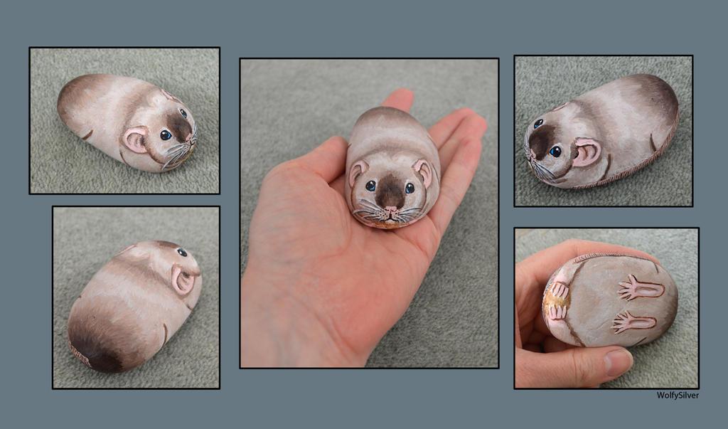 Siamese Rat Stone by wolfysilver