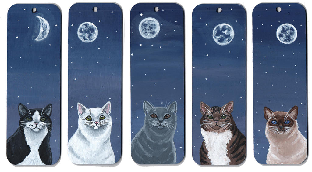 Cat Bookmarks by wolfysilver