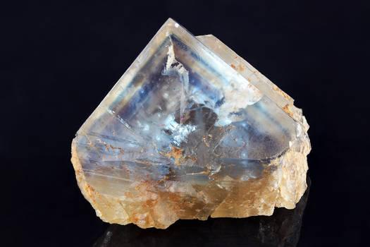 Blue-Striped Fluorite (glassy face)