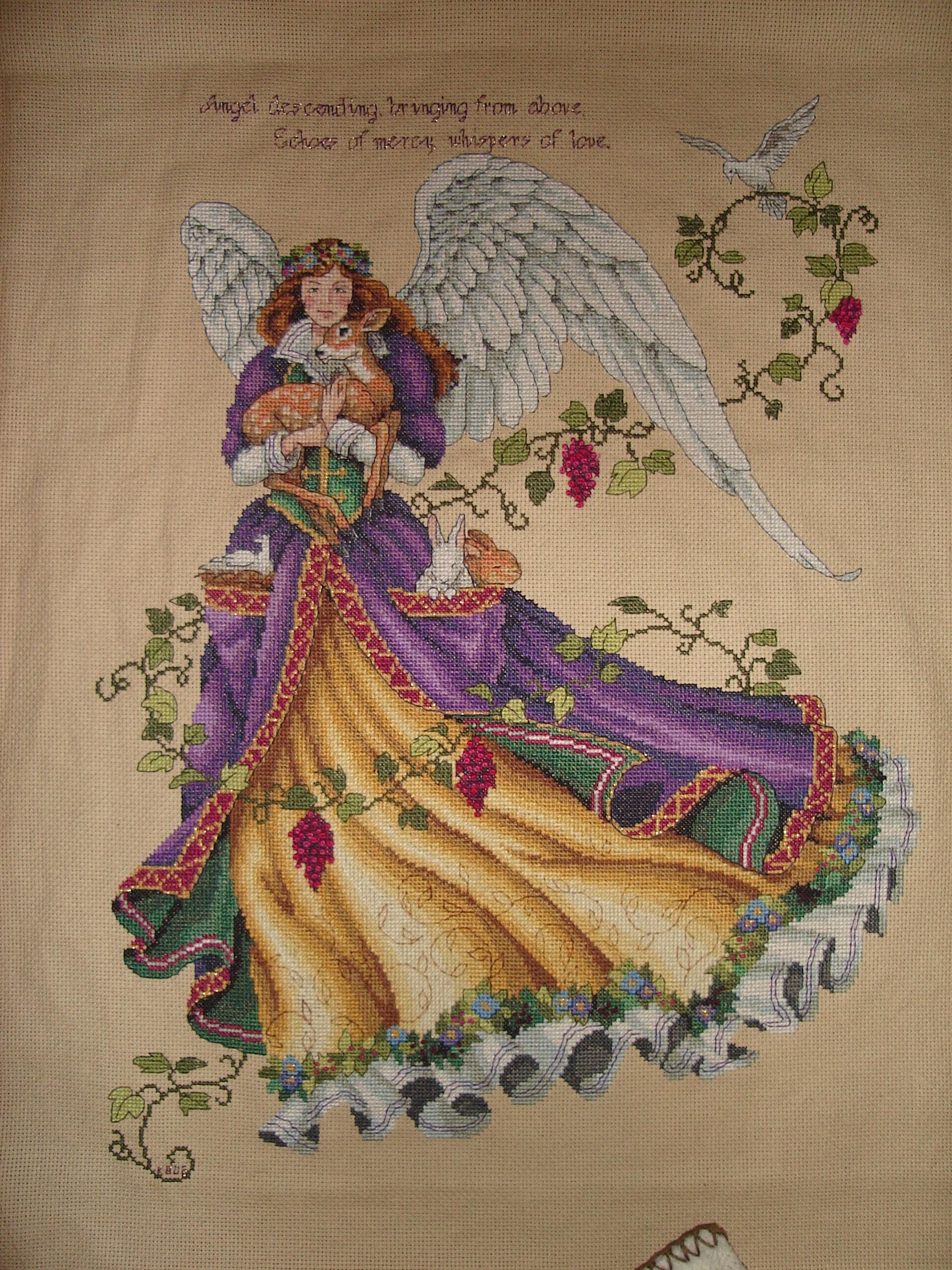 Все ангелы вышивки дименшенс 106