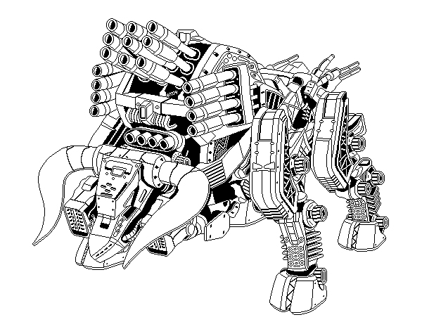 zoids: di-bison outline by arbiter7734 on DeviantArt