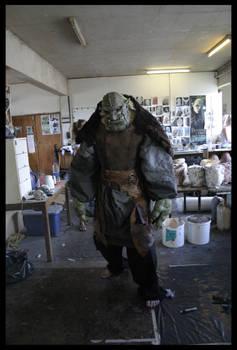 Mountain troll suit halfdone