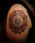 Swastika lotus, made by Lars