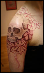 WiP Skull by Meatshop-Tattoo