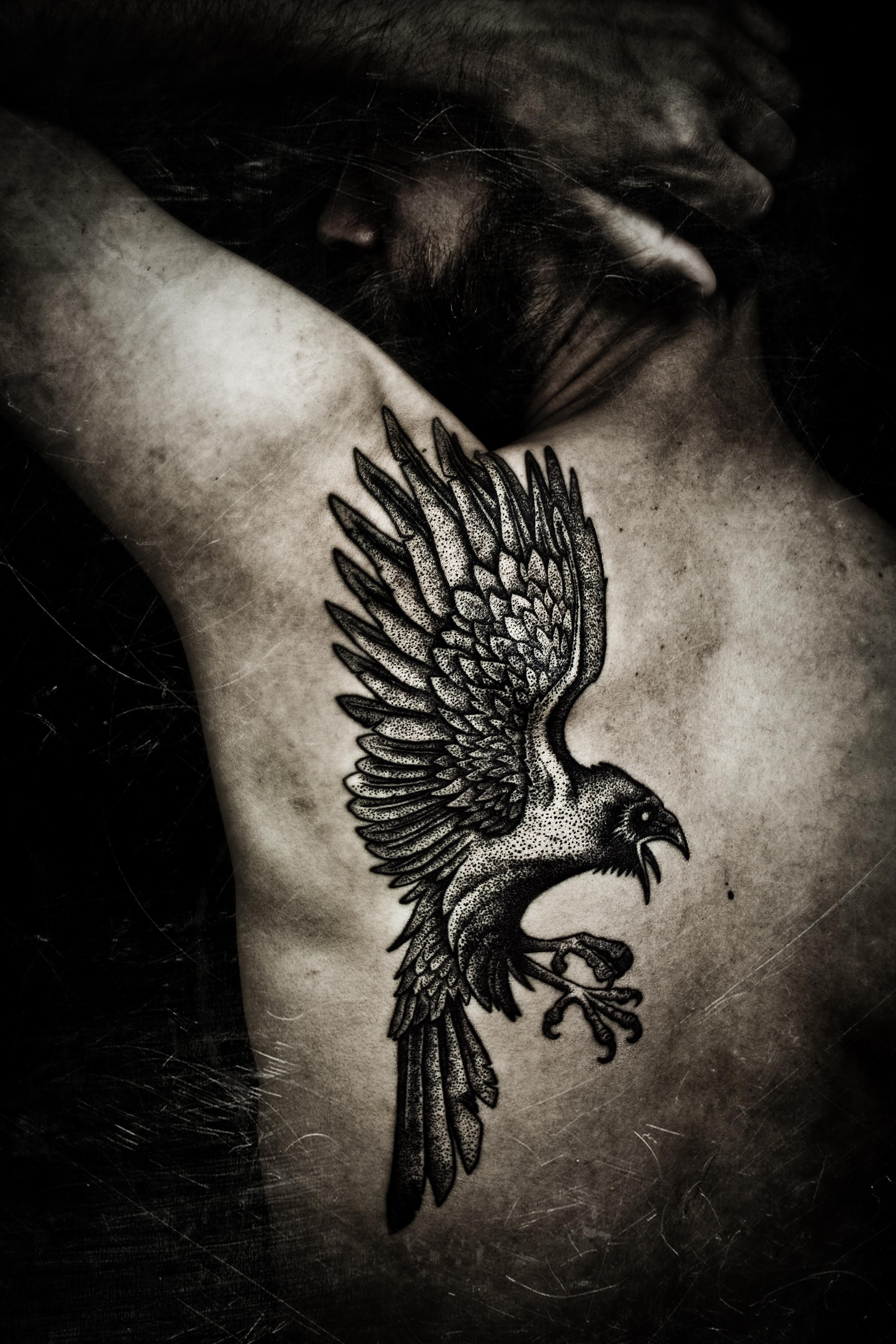 The Raven, pro-photo by Meatshop-Tattoo on DeviantArt