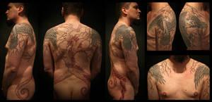Yggdrasil halfbody by Meatshop-Tattoo