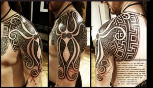 Greek Swastika shoulderpiece