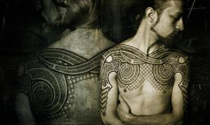 Double ram tattoo, pro photo
