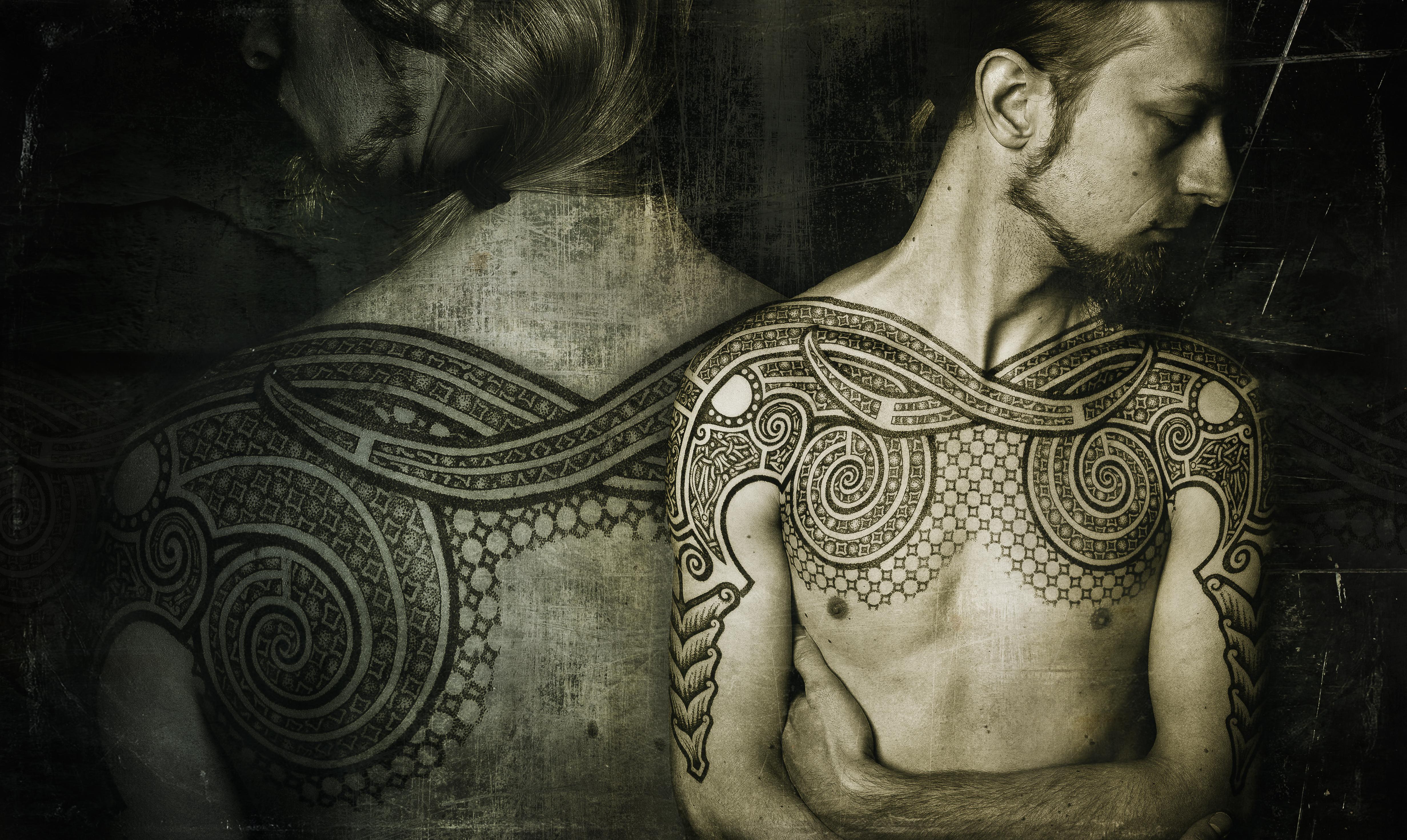 Double ram tattoo, pro photo by Meatshop-Tattoo