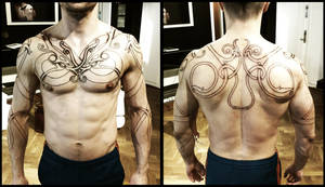 Urnes torso, day 2. by Meatshop-Tattoo