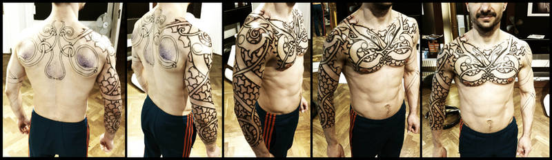 Armor of Wyrms, day 5. by Meatshop-Tattoo