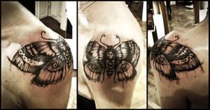 Deathhead moth tattoo