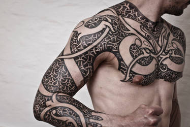 Armor of Wyrms, day 10. Tattoo of the ages by BlackMantra-ink