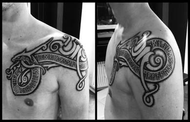 Small mammen dragon tattoo by Meatshop-Tattoo