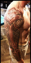 Celtic and bali inspired sleeve