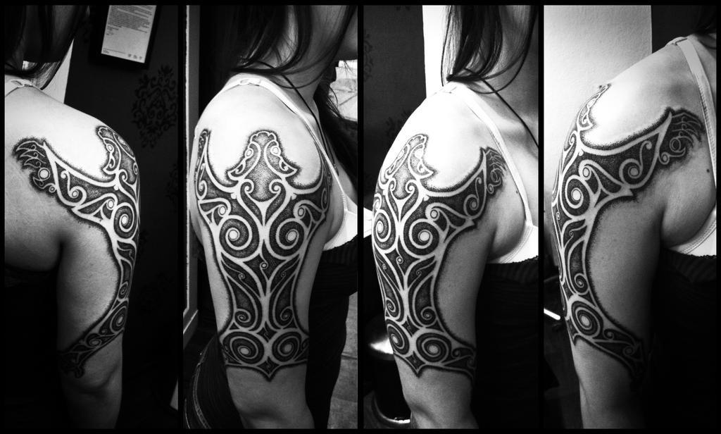 Celtic bear tattoo by Meatshop-Tattoo
