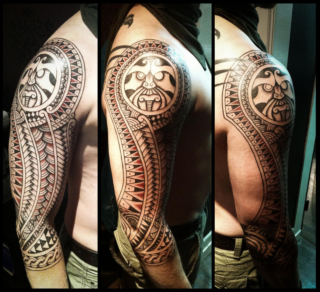 Nordic style polynesian tattoo by Meatshop-Tattoo