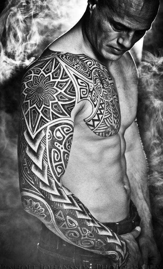 The Titan sleeve tattoo, finished.