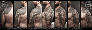 North and south swastika tattoo by Meatshop-Tattoo