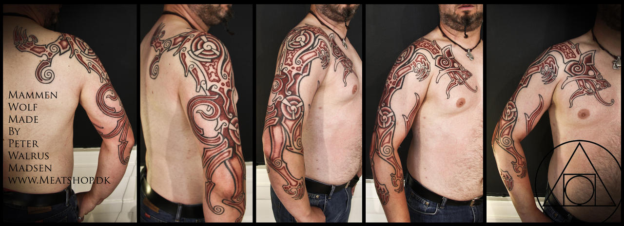 Mammen wolf tattoo by Meatshop-Tattoo