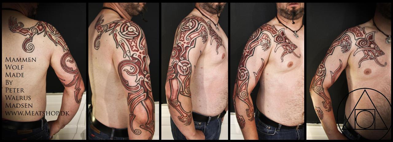 Mammen wolf tattoo by Meatshop-Tattoo
