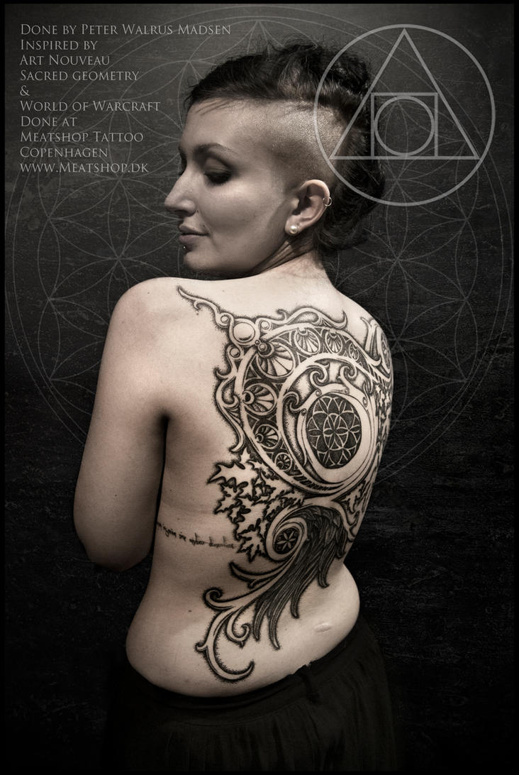 World of Warcraft Moongoddess tattoo pro-shot by Meatshop-Tattoo