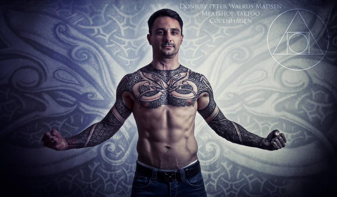 Armor of Wyrms tattoo session by Meatshop-Tattoo