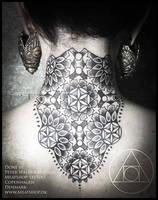 Flower of life neck piece by Meatshop-Tattoo