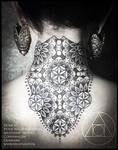 Flower of life neck piece