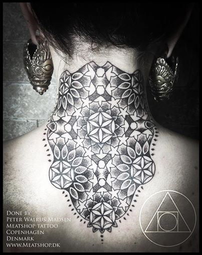 Flower of life neck piece by Meatshop-Tattoo