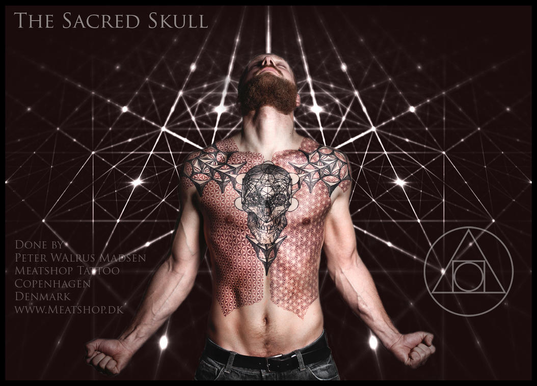 The Sacred Skull tattoo by Meatshop-Tattoo
