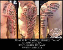 Fragments of geometry tattoo by Meatshop-Tattoo