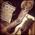 Sleeve of Asanoha tattoo