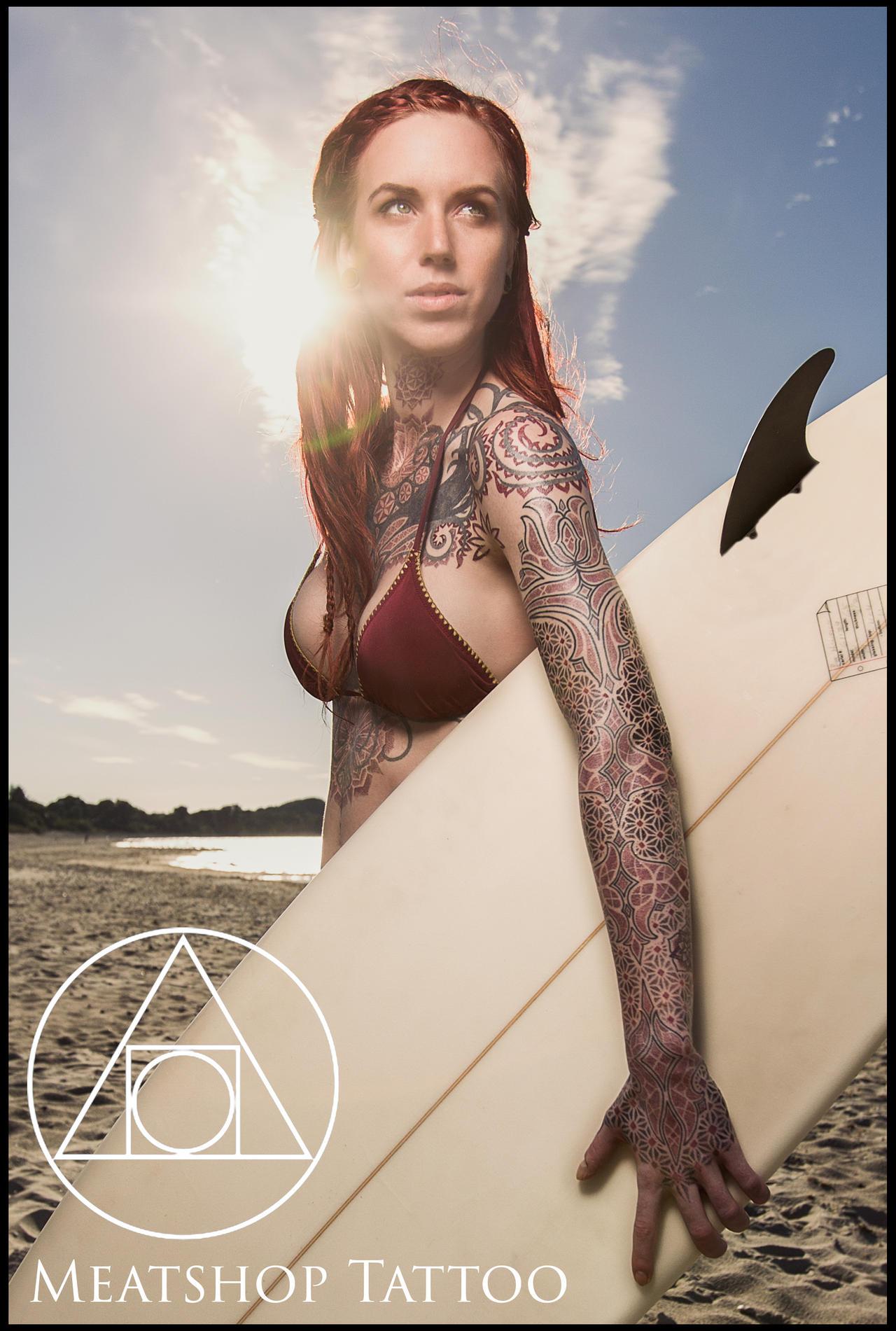 Fire Tattoos Sleeves Sacred Geometry Sleeve Tattoo By Meatshop Tattoo Dnnoi