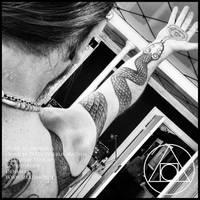 Snakecharmer sleeve tattoo by Meatshop-Tattoo