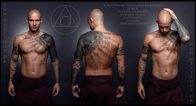 A mantra of Peace and Happiness tattoo 2