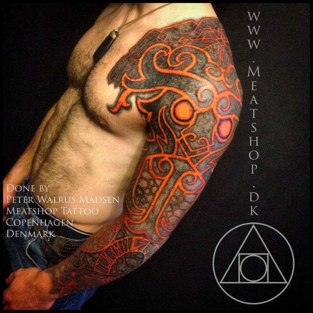 God of Fire tattoo by Meatshop-Tattoo