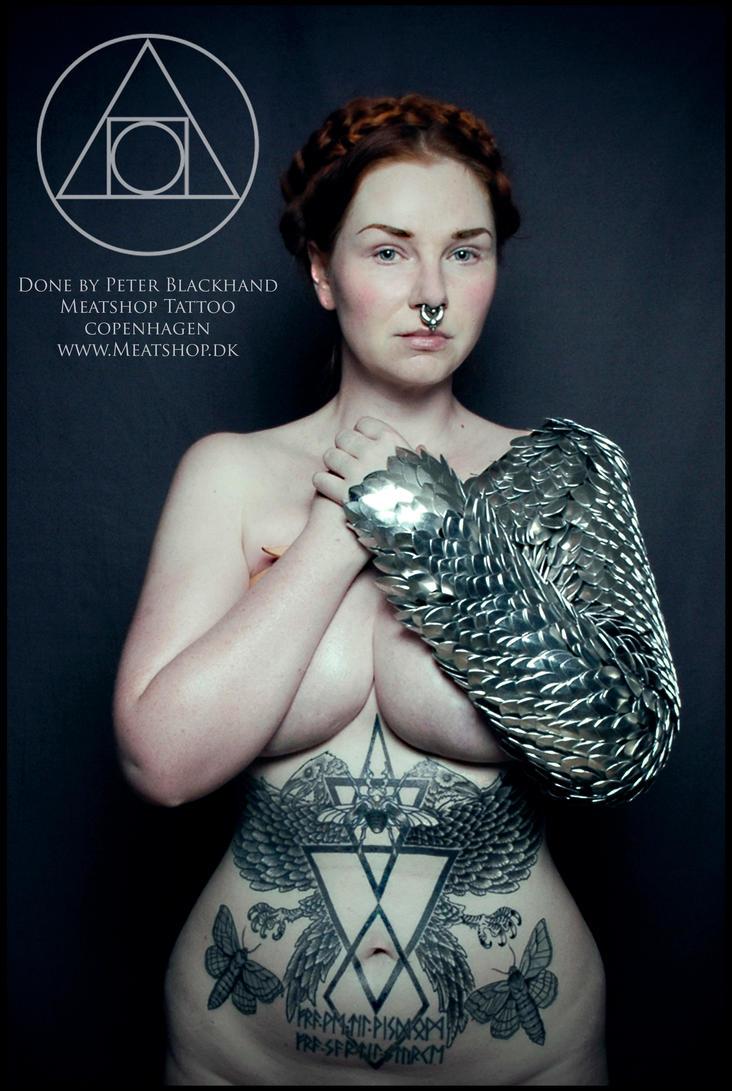 Ravens and bugs. A Blackhand tattoo by Meatshop-Tattoo