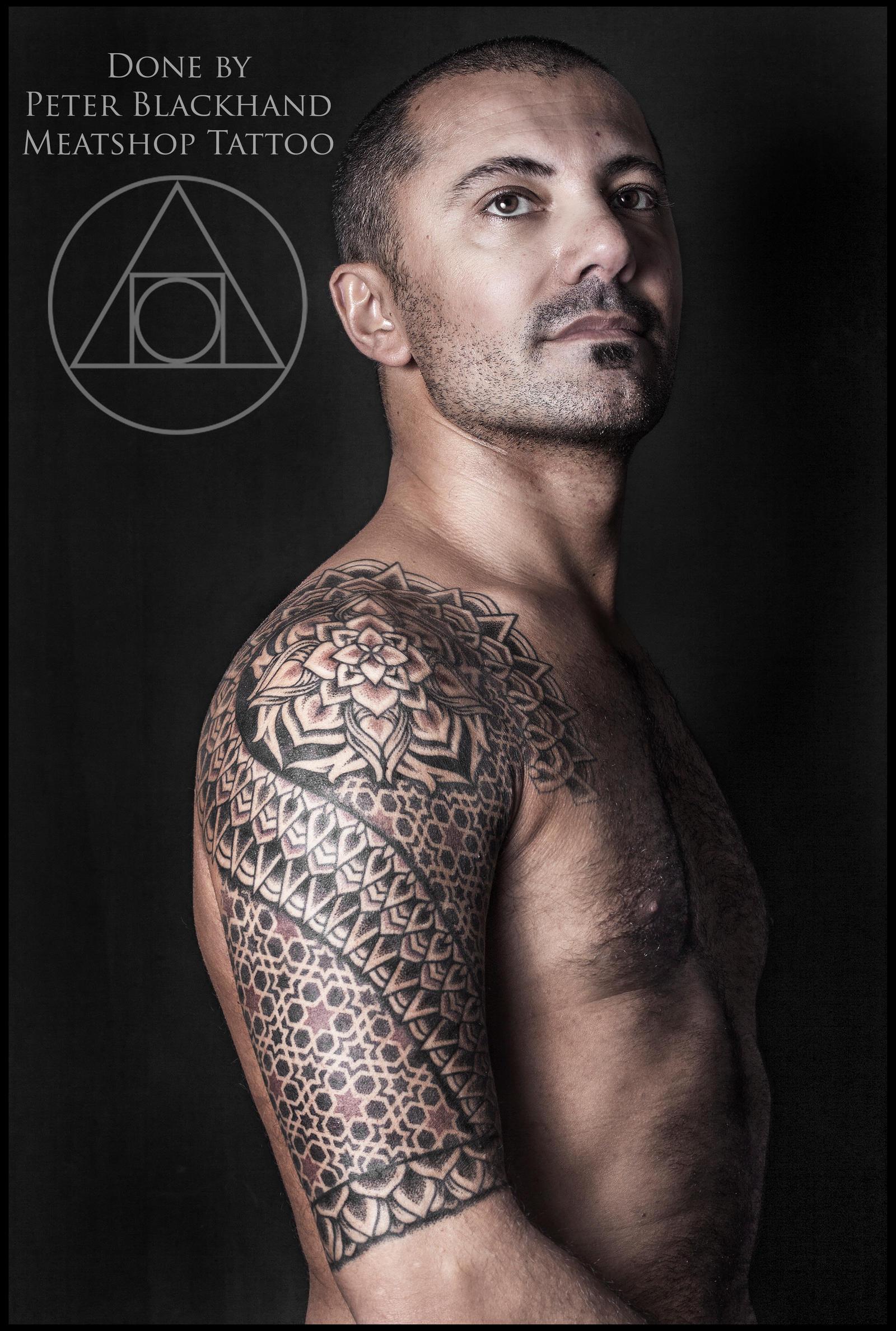 Fire Tattoos Sleeves Arab Mandala Sleeve Tattoo By Peter Blackhand By