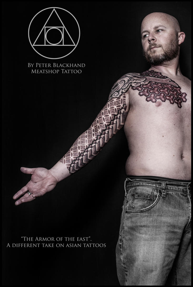 Armor of the East tattoo II by Peter Blackhand by Meatshop-Tattoo