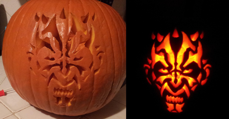 Darth Maul Pumpkin StencilDarth Stencil