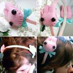 Kawaii Pink Bunny Headband