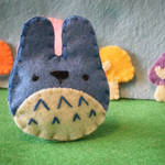 Mini Totoro Plush Blue