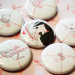 Ddung Mini Buttons-Girly Pink by hellohappycrafts