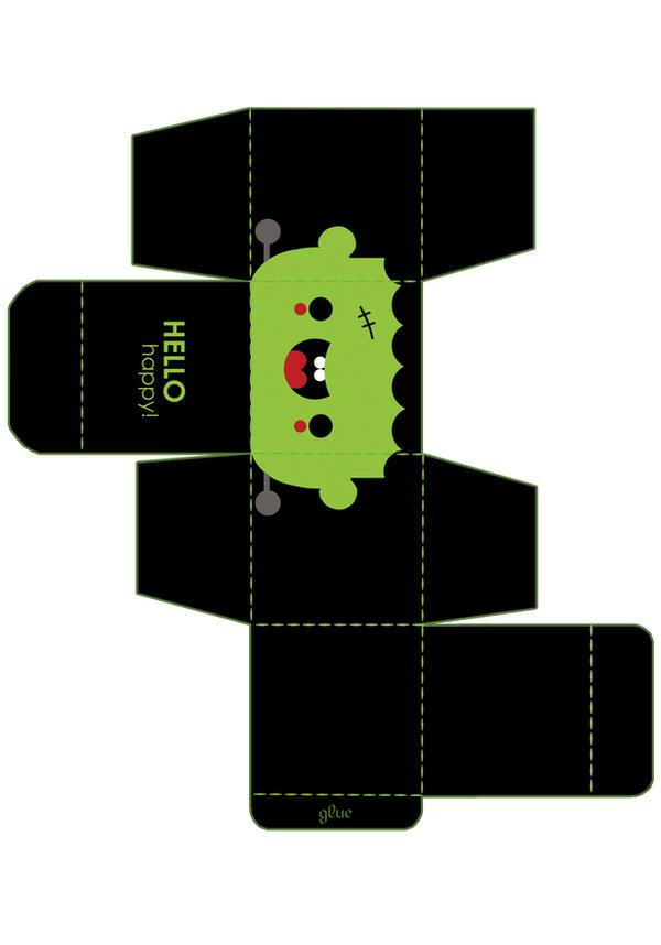 Frankenstein Box Template