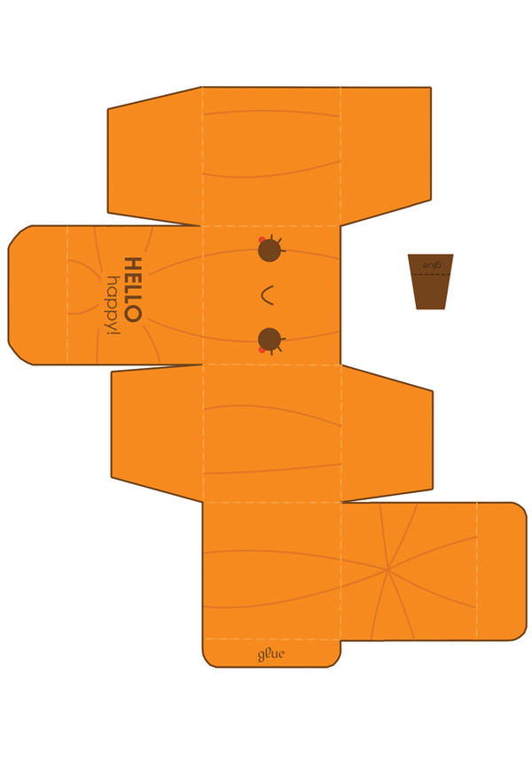 Cutesy Pumpkin Box Template by hellohappycrafts
