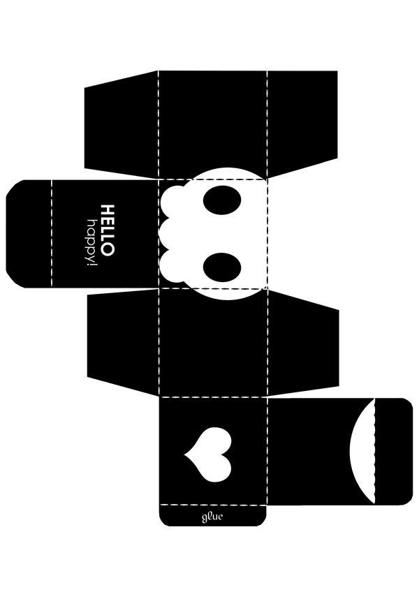 Skull Box Template